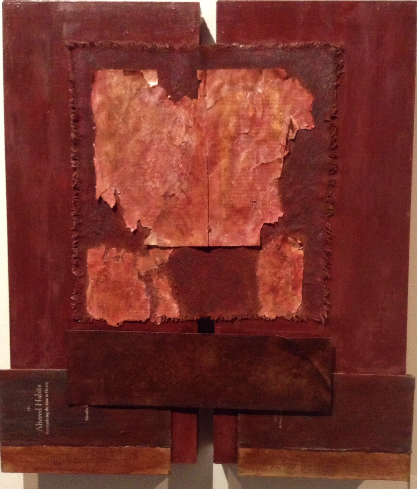 Diptych with covers and metal, 24x22, 2013