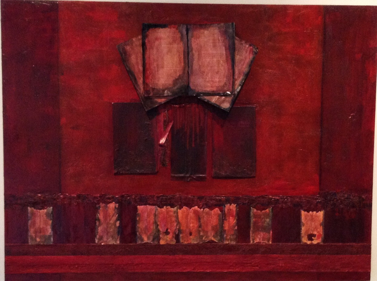 Untitled (red) mixed media 36x48 2011
